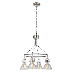Craftmade 51224-PLN 4 Light Chandelier