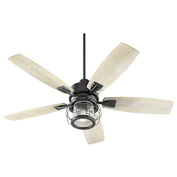 Quorum 13525-69 1 Light Noir Patio Fan