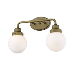 Acclaim Lighting IN41225RB Portsmith 2-Light Raw Brass Vanity