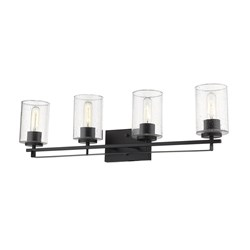 Acclaim Lighting IN41103BK Orella 4-Light Matte Black Sconce