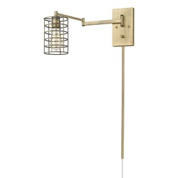 Acclaim Lighting IN41030AB Jett 1-Light Aged Brass Sconce