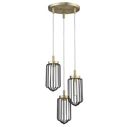 Acclaim Lighting IN31501AB Reece 3-Light Aged Brass Chandelier
