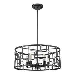 Acclaim Lighting IN21132BK Amoret 5-Light Matte Black Convertible Pendant