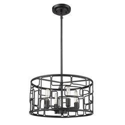 Acclaim Lighting IN21131BK Amoret 4-Light Matte Black Convertible Pendant