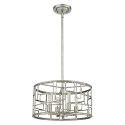 Acclaim Lighting IN21131AS Amoret 4-Light Antique Silver Convertible Pendant