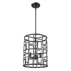 Acclaim Lighting IN21130BK Amoret 3-Light Matte Black Convertible Pendant