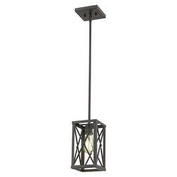 Acclaim Lighting IN21122ORB Brooklyn 1-Light Oil-Rubbed Bronze Mini-Pendant