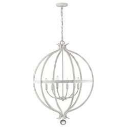 Acclaim Lighting IN11342CW Callie 6-Light Country White Pendant