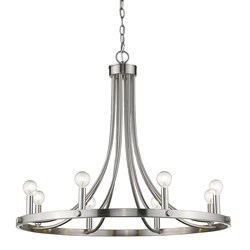 Acclaim Lighting IN11151SN Sawyer 8-Light Satin Nickel Chandelier