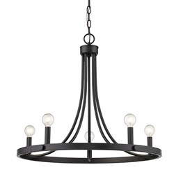 Acclaim Lighting IN11150BK Sawyer 5-Light Matte Black Chandelier