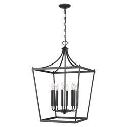 Acclaim Lighting IN11135BK Kennedy 8-Light Matte Black Chandelier