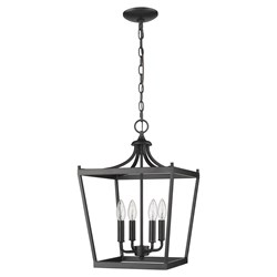 Acclaim Lighting IN11133BK Kennedy 4-Light Matte Black Chandelier