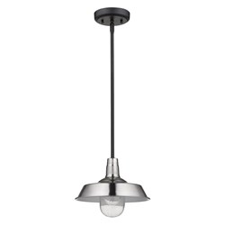 Acclaim Lighting 1736SN Burry 1-Light Satin Nickel Convertible Pendant