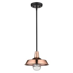 Acclaim Lighting 1736CO Burry 1-Light Copper Convertible Pendant