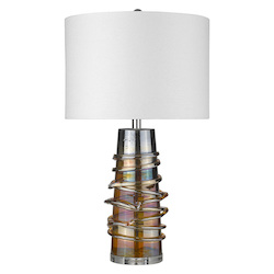 Trend Lighting TT80169 Trend Home 1-Light Polished Nickel Table Lamp