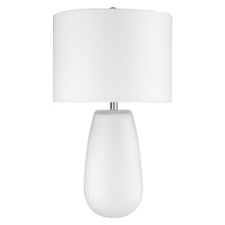 Trend Lighting TT80159WH Trend Home 1-Light White Table Lamp