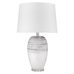 Trend Lighting TT80154 Trend Home 1-Light Polished Nickel Table Lamp