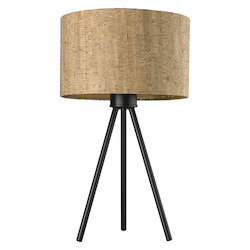 Trend Lighting TT80092BK Lisbon 1-Light Matte Black Table Lamp