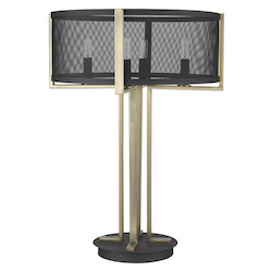 Trend Lighting TT80055BK Trend Home 4-Light Matte Black Table Lamp