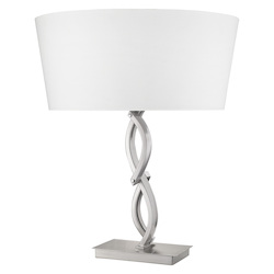 Trend Lighting TT80020SN Trend Home 1-Light Satin Nickel Table Lamp