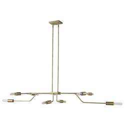 Trend Lighting TP60021AB Perret 8-Light Aged Brass Convertible Pendant