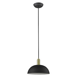 Trend Lighting TP30100BK Ingo 1-Light Matte Black Pendant