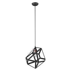 Trend Lighting TP30081BK Hedron 1-Light Matte Black Pendant