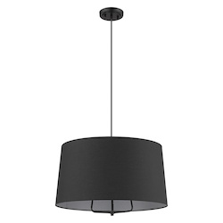 Trend Lighting TP30031BK Lamia 3-Light Matte Black Mini Pendant