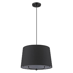 Trend Lighting TP30030BK Lamia 1-Light Matte Black Mini Pendant