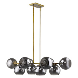 Trend Lighting TP20036AB Lunette 10-Light Aged Brass Island Pendant