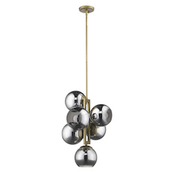 Trend Lighting TP20035AB Lunette 6-Light Aged Brass Pendant