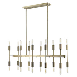 Trend Lighting TP20017AB Perret 20-Light Aged Brass Island Pendant