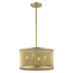 Trend Lighting TP20013GD Basetti 4-Light Gold Convertible Pendant