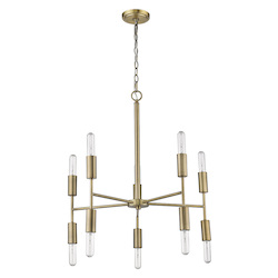 Trend Lighting TP10015AB Perret 10-Light Aged Brass Chandelier