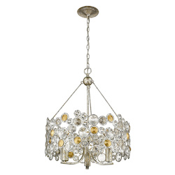 Trend Lighting TP10001ASL Vitozzi 3-Light Antique Silver Leaf Chandelier