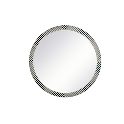 Elegant Decor MR54848 Round Mirror 48 Inch In Chevron