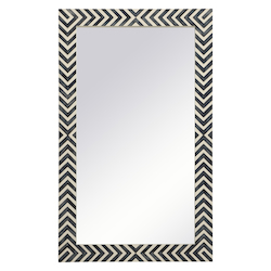 Elegant Decor MR52440 Rectangle Mirror 24 Inch In Chevron