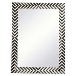 Elegant Decor MR52432 Rectangle Mirror 24 Inch In Chevron
