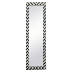 Elegant Decor MR51860 Rectangle Mirror 18 Inch In Chevron
