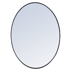 Elegant Decor MR4630BK Metal Frame Oval Mirror 40 Inch In Black