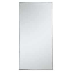 Elegant Decor MR43672S Metal Frame Rectangle Mirror 36 Inch In Silver