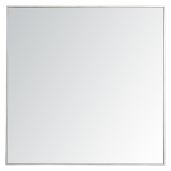 Elegant Decor MR43636S Metal Frame Square Mirror 36 Inch In Silver