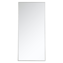 Elegant Decor MR43060S Metal Frame Rectangle Mirror 30 Inch In Silver