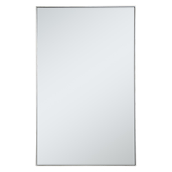 Elegant Decor MR43048S Metal Frame Rectangle Mirror 30 Inch In Silver