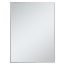 Elegant Decor MR43040S Metal Frame Rectangle Mirror 30 Inch In Silver