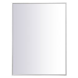 Elegant Decor MR42736S Metal Frame Rectangle Mirror 27 Inch In Silver