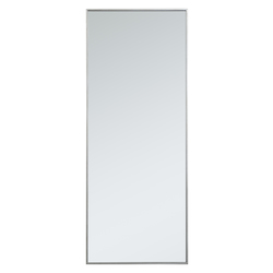 Elegant Decor MR42460S Metal Frame Rectangle Mirror 24 Inch In Silver