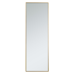Elegant Decor MR42060BR Metal Frame Rectangle Mirror 20 Inch In Brass