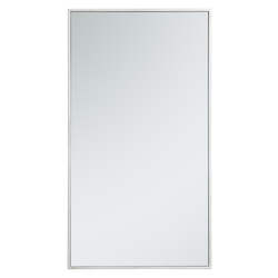 Elegant Decor MR42036S Metal Frame Rectangle Mirror 20 Inch In Silver