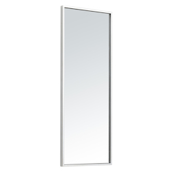 Elegant Decor MR41436S Metal Frame Rectangle Mirror 14 Inch In Silver